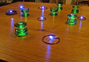 Leds fed by 13,6 MHz ring-resonators